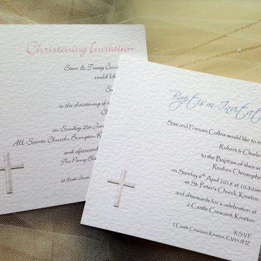 Square Christening Invitations