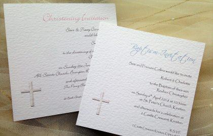 Christening invitations affordable baptism invites from 60p square christening invitations stopboris Choice Image