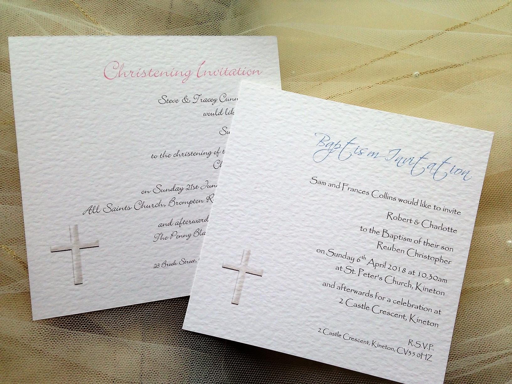 Square christening invitations christening stationery square christening invitations stopboris Images