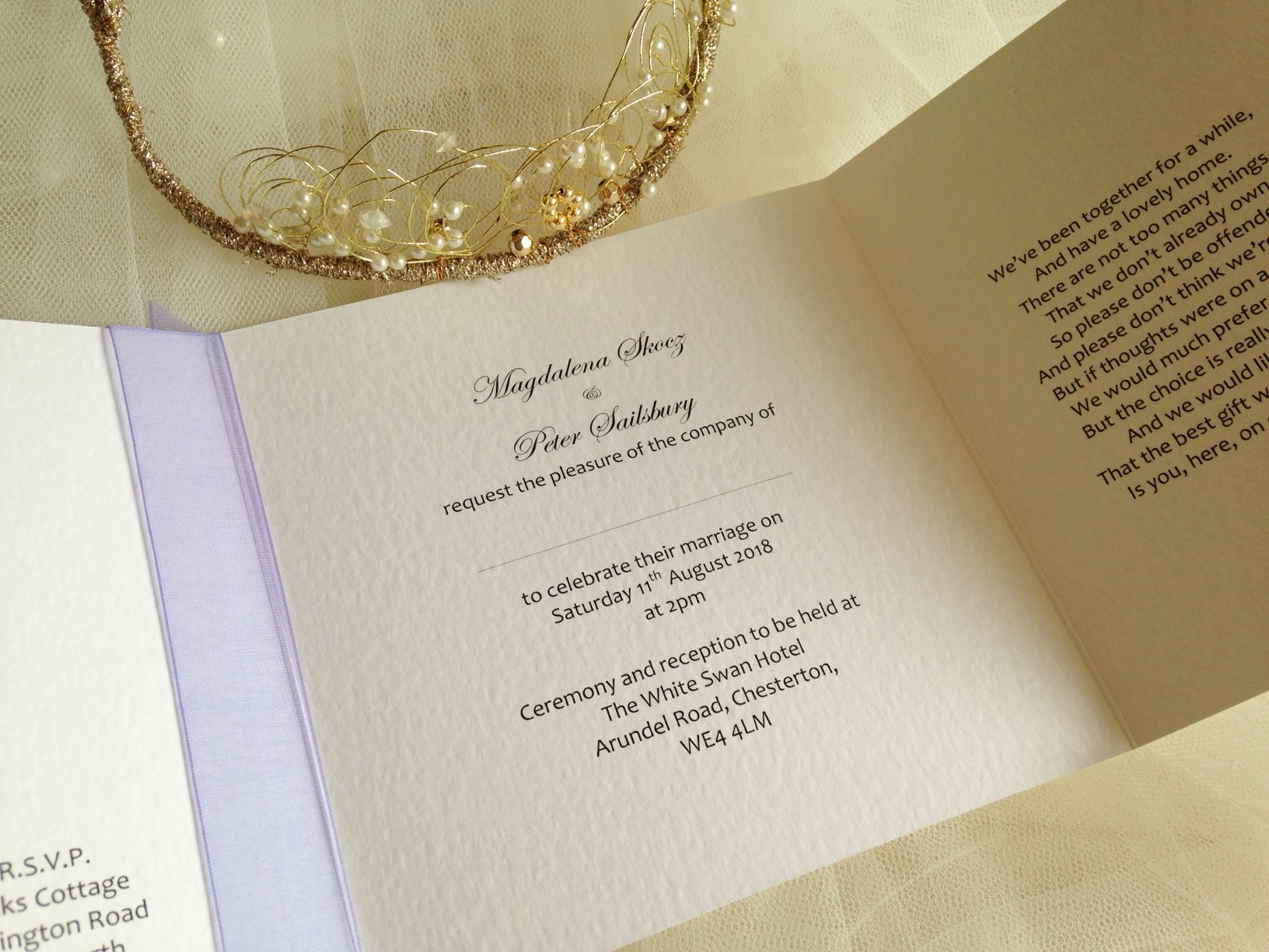 Wedding Invitations England: Eat Drink And Be Married Square Gatefold Wedding Invitations