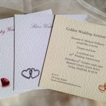 Square Wedding Anniversary Invitations