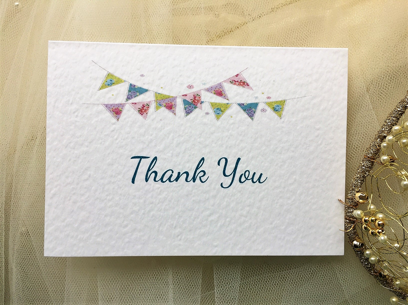 summer bunting thank you cards