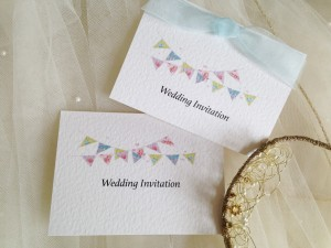 Summer Bunting Top Fold Wedding Invitations
