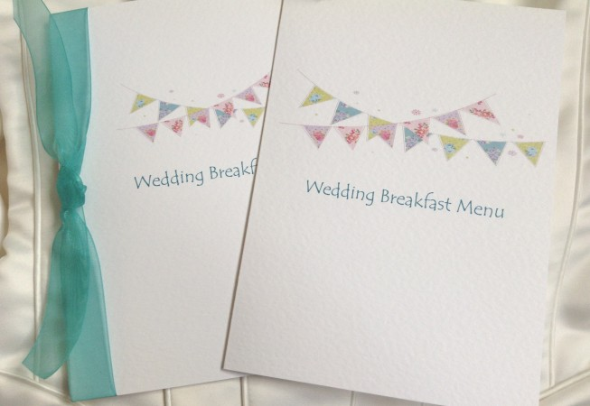 Summer Bunting Large A5 Menu Booklets