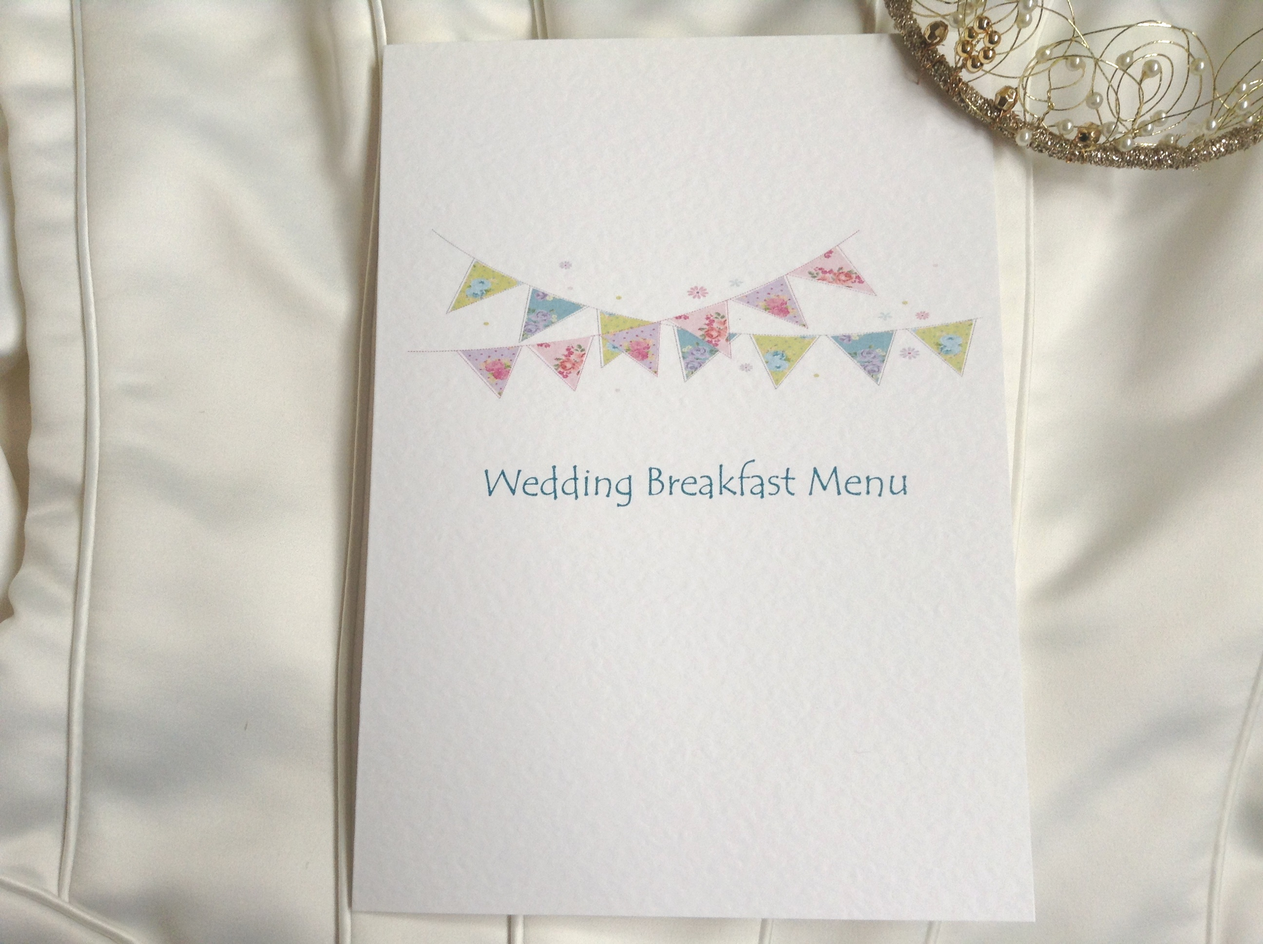 Summer Bunting Small A6 Menu Booklets