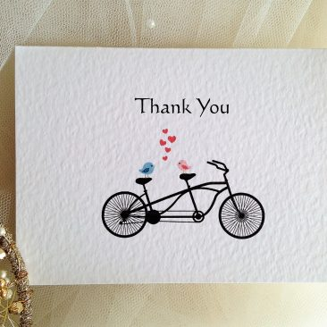 Tandem Bike Thank You Cards