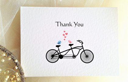 Tandem Bike Thank You Cards