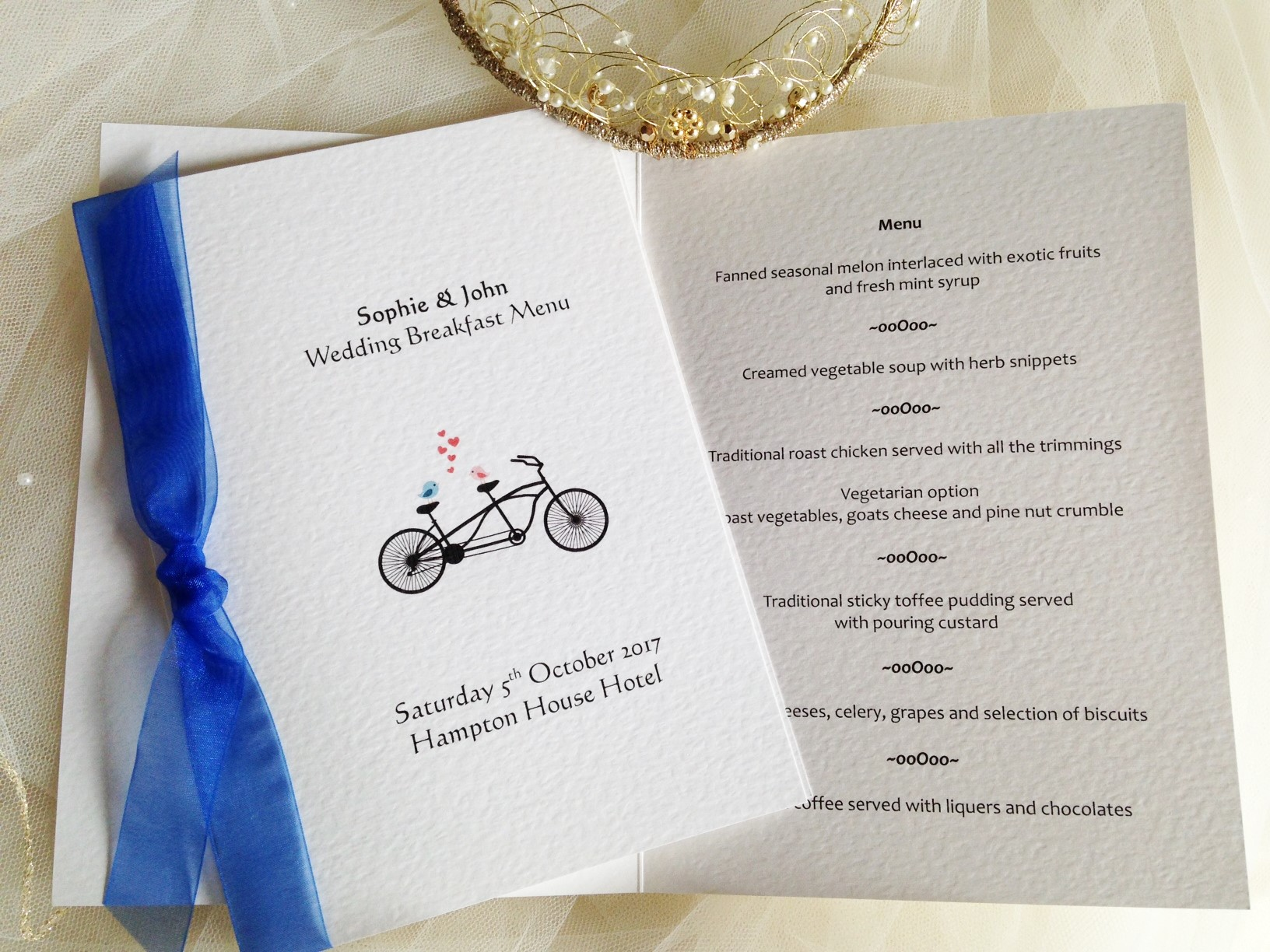 Tandem Bike Small A6 Menu Booklets