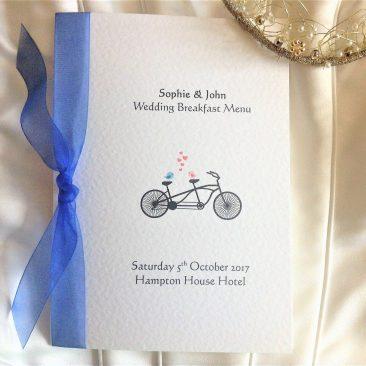Tandem Bike Menu Booklets