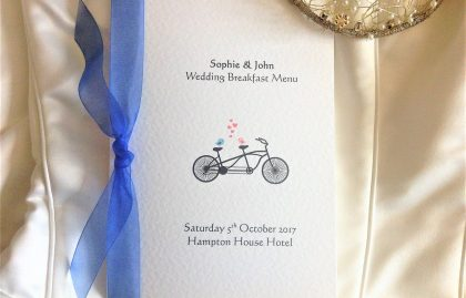 Tandem Bike Menu Booklets