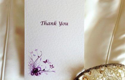 Purple and Lilac Butterfly Thank You Cards