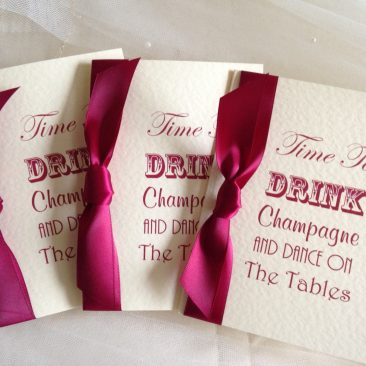 Drink Champagne Folded Party Invitations