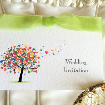 Love Tree Top Fold Wedding Invitations