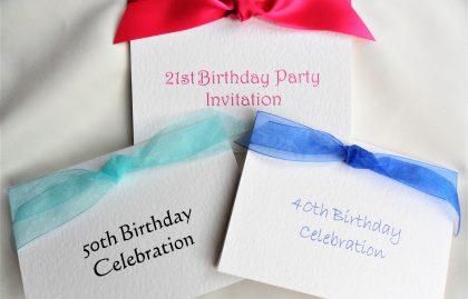 Top Ribbon Birthday Invitations