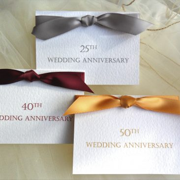 Top Ribbon Wedding Anniversary Invitations