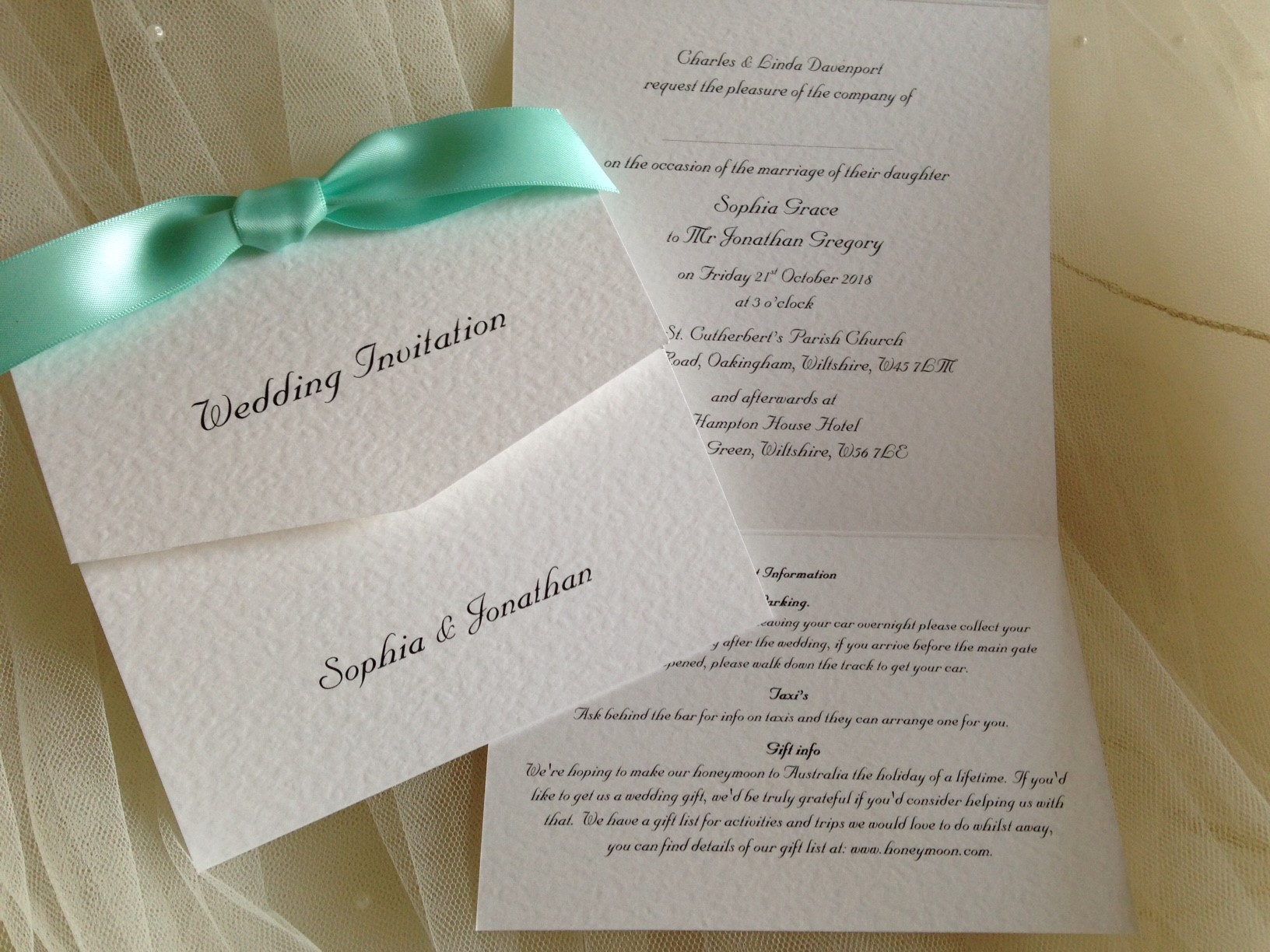 Tri Fold Wedding Invitations