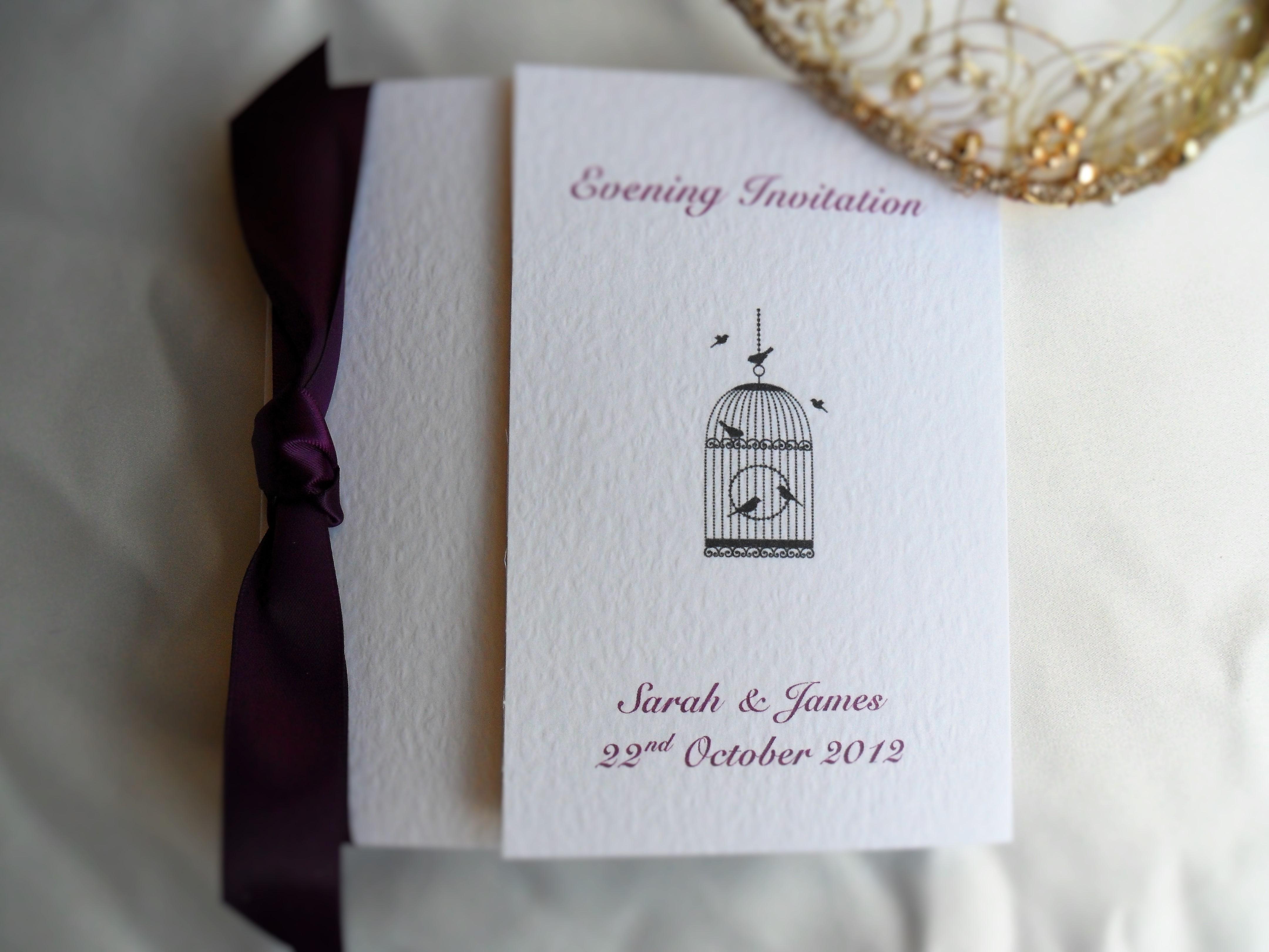 Wedding Invitations Birdcage: Vintage Birdcage Square Gatefold Wedding Invitations