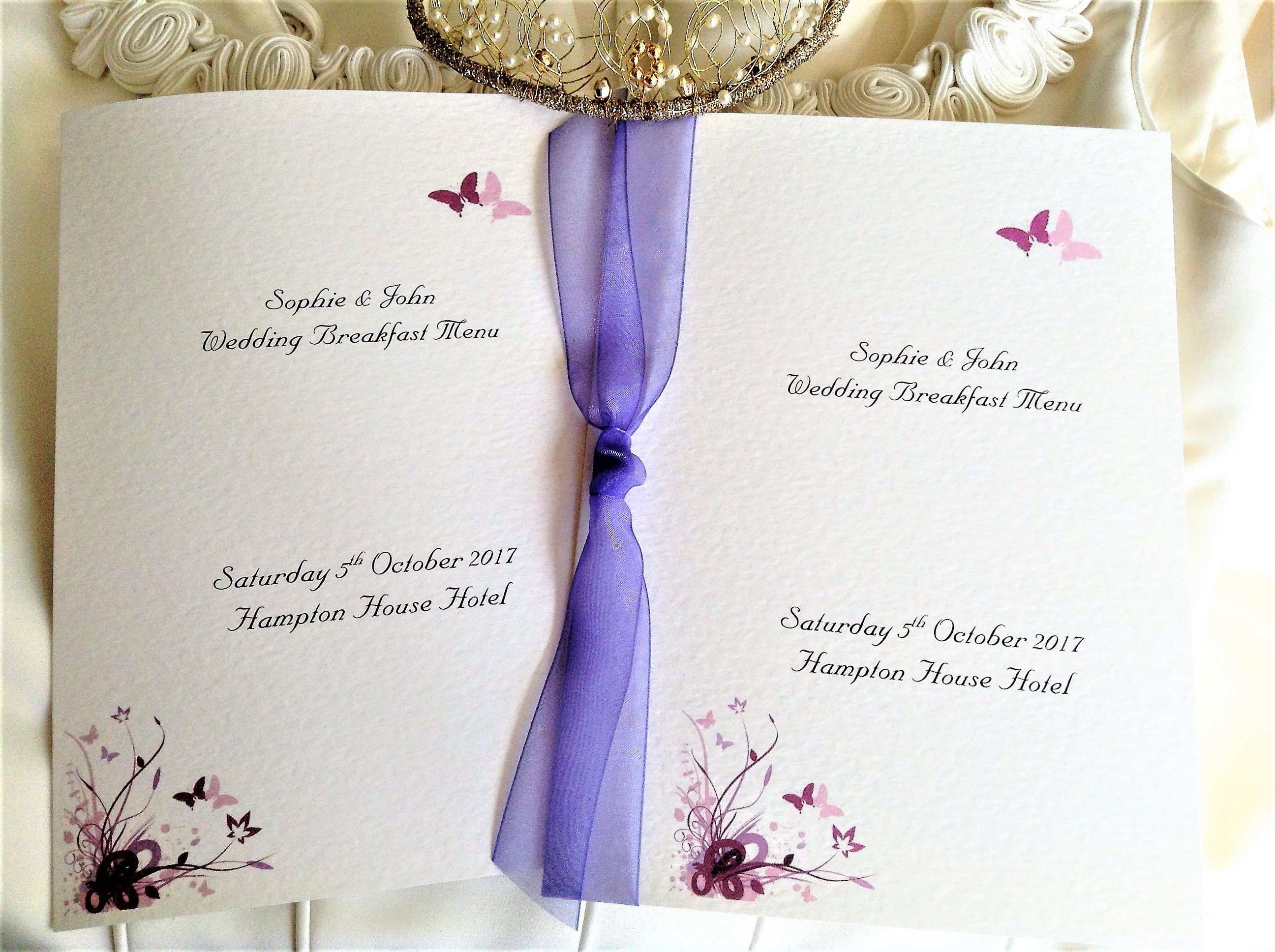 Purple & Lilac Butterfly Large Booklets
