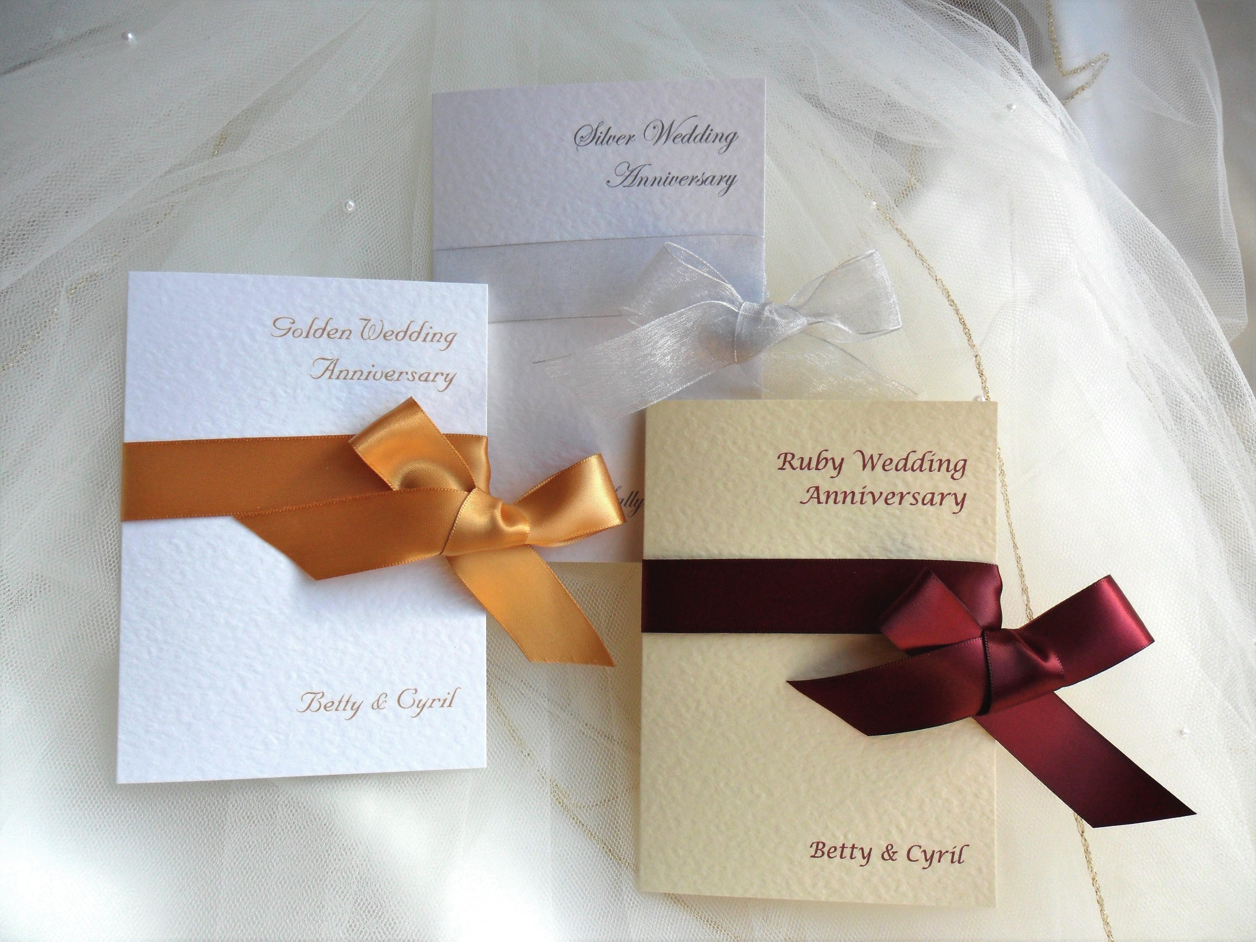 10th Wedding Anniversary Invitations: Wrap Ribbon Wedding Anniversary Invitations £1.25