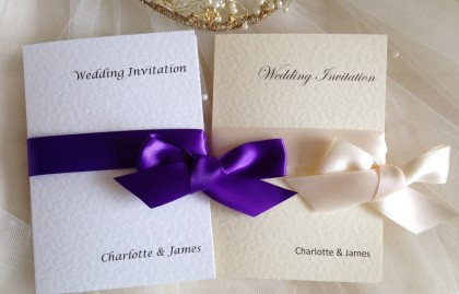 Wrap Ribbon Wedding Invitations