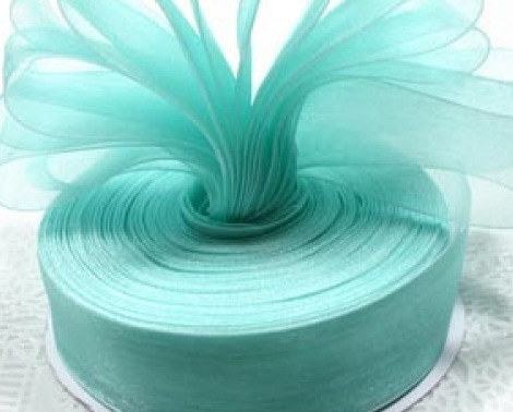 Aqua green ribbon