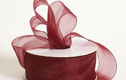 Burgundy Wine Ribbon