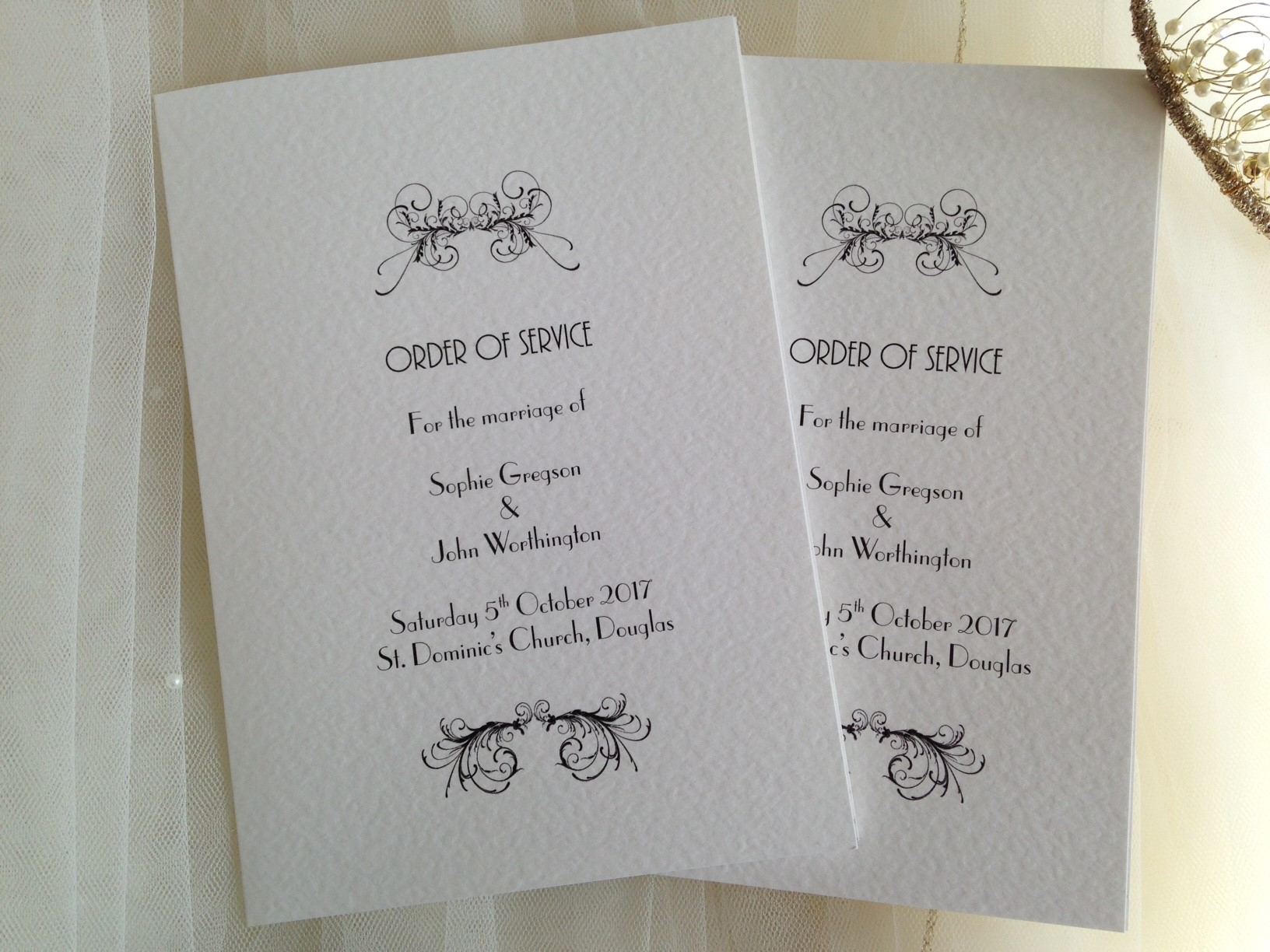 watercolour wilderness wedding order of service booklet