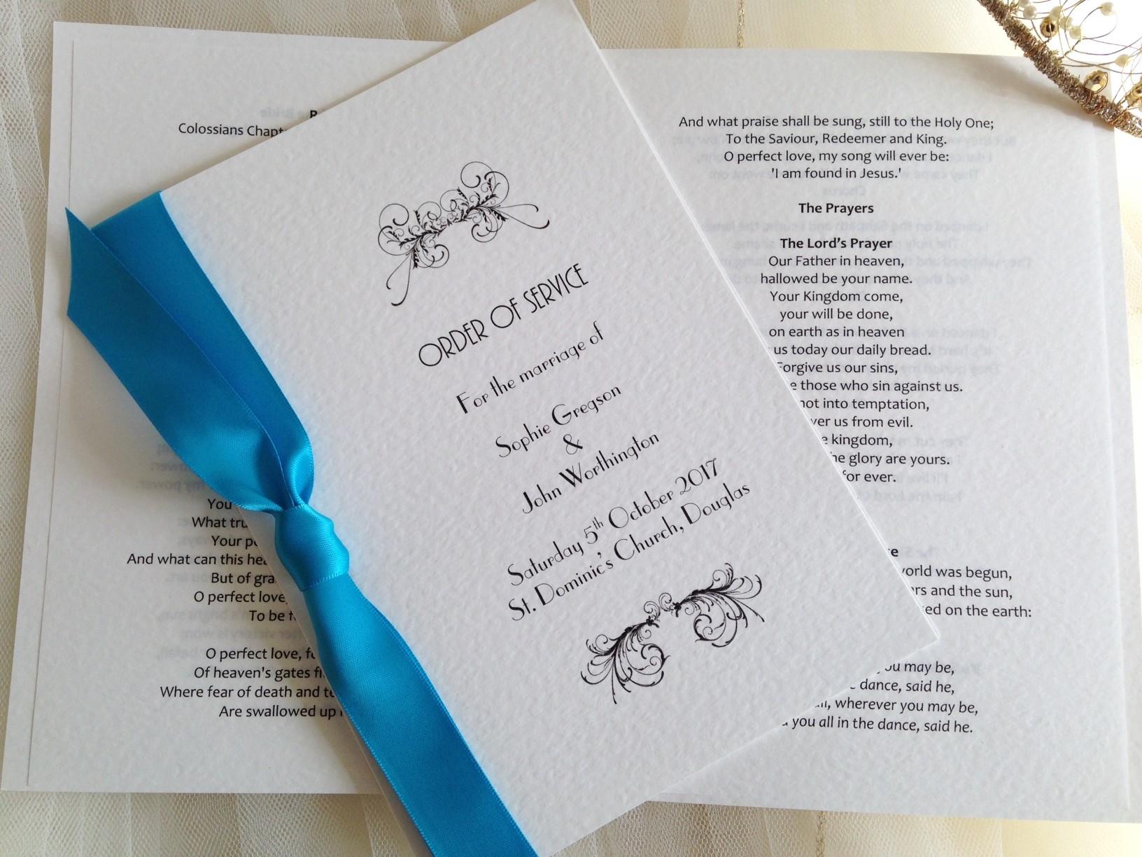 Art Deco Wedding Order of Service Books
