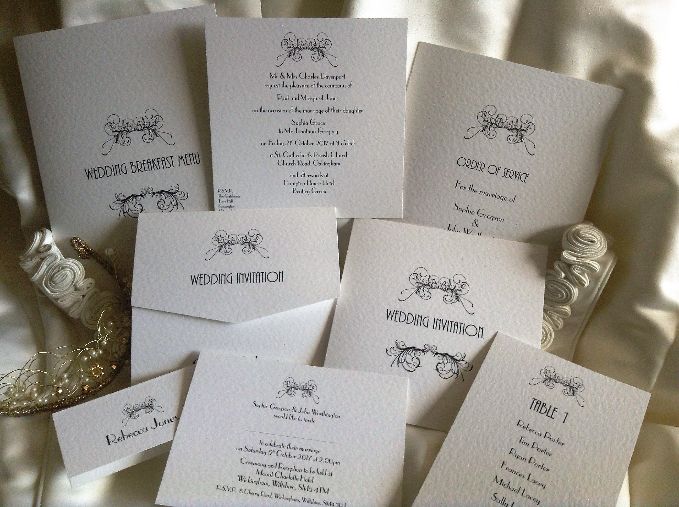 Art Deco Wedding Stationery Range