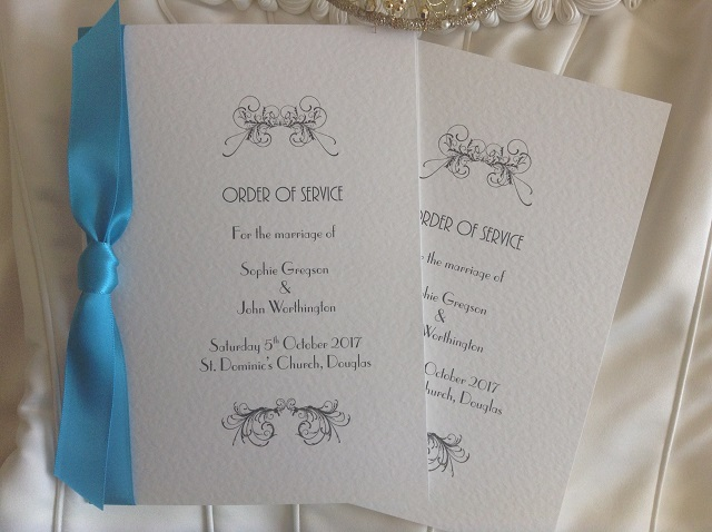 Art deco wedding order of service books from for Christian wedding order of service template