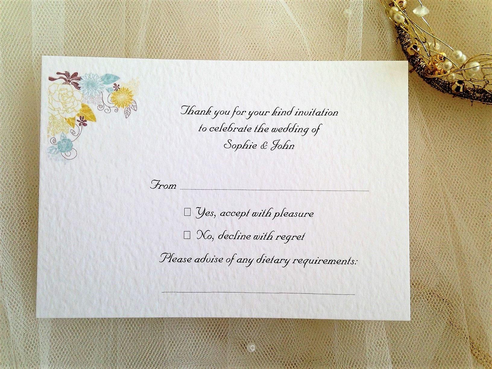 Blooms RSVP Postcards