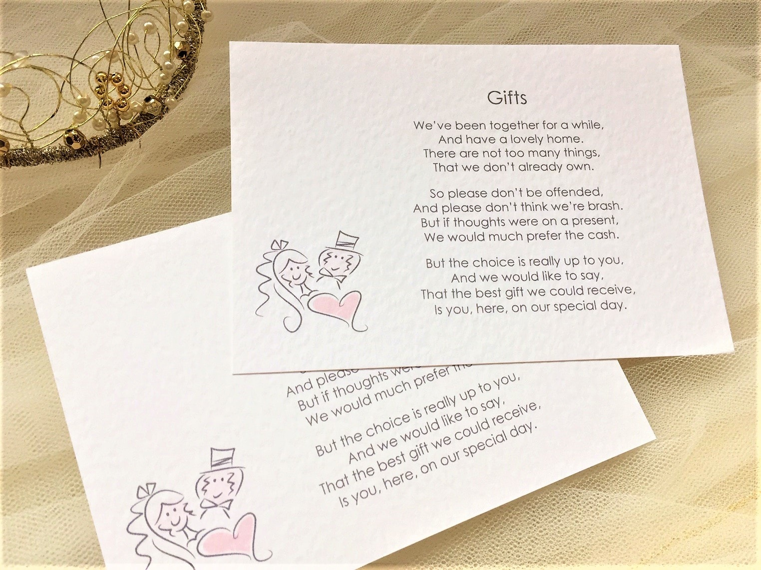 Bride And Groom Gift Cards 45p