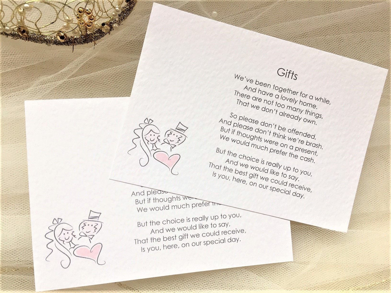 Groom Wedding Gifts From Bride: Bride And Groom Gift Cards 45p