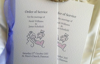 Small Bride & Groom Wedding Order of Service Books