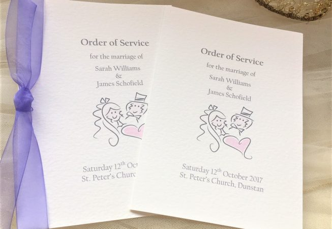Large Bride and Groom Order of Service Books