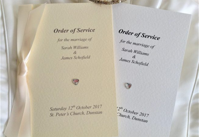 Diamante Heart Order of Service Book Enhanced