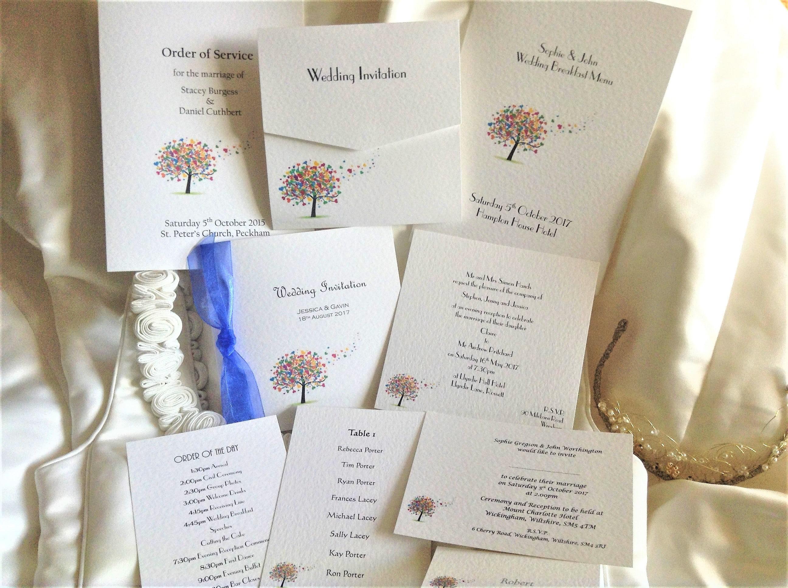 Love Tree Wedding Stationery