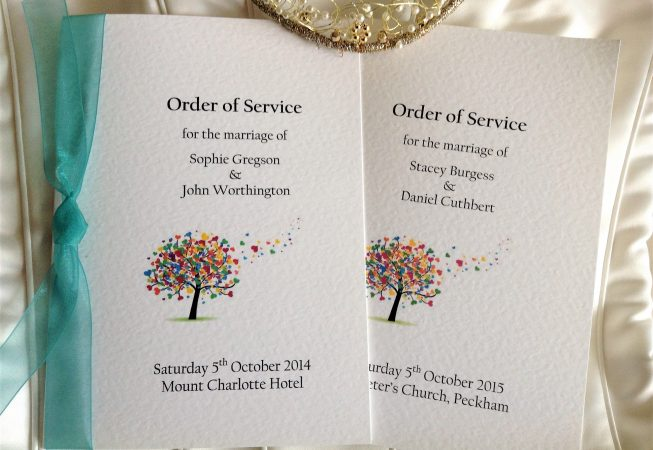 Love Tree Order of Service Books