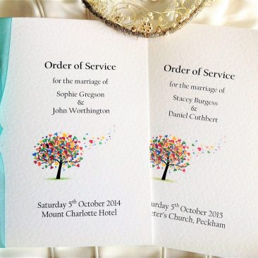 Large Love Tree Wedding Order of Service Books