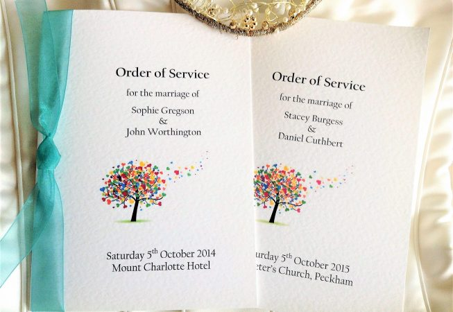 Small Love Tree Wedding Order of Service Books