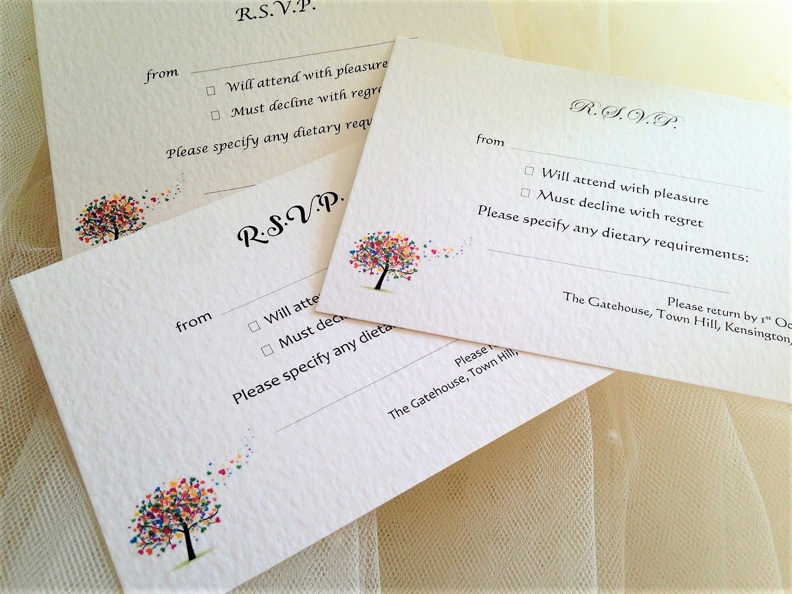 Love Tree RSVP Postcards
