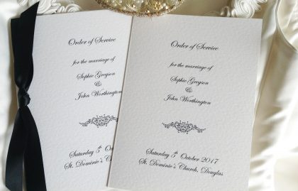 Large Motif Wedding Order of Service Books