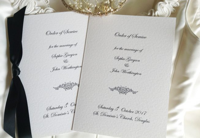 Motif Wedding Order of Service Books