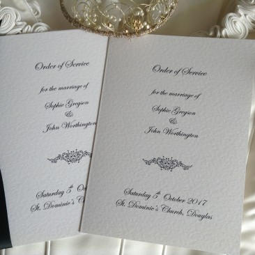 Small Motif Wedding Order of Service Books