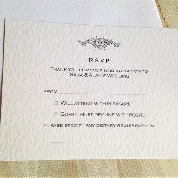 Motif RSVP Cards and Envelopes
