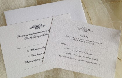 Motif RSVP Cards and Envelopes