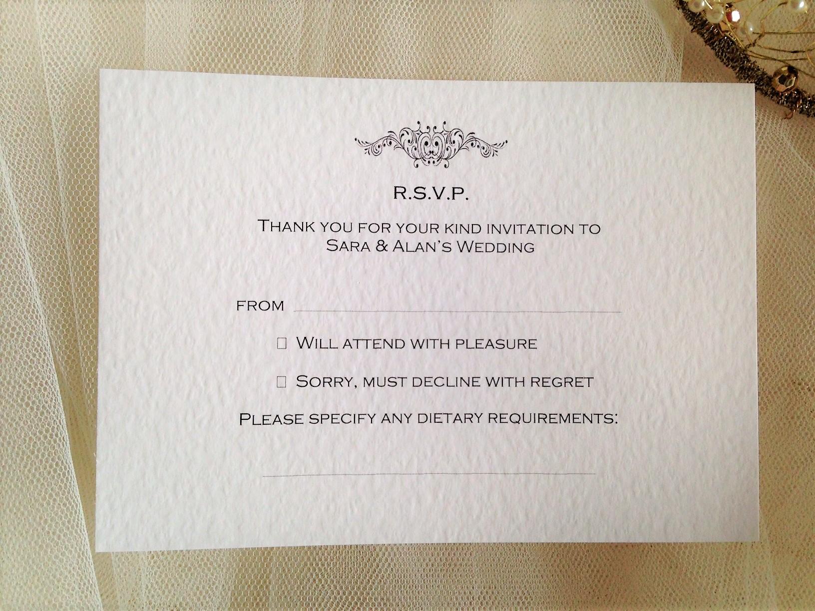Motif RSVP Postcard
