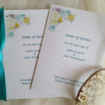 Small Blooms Wedding Order of Service Books