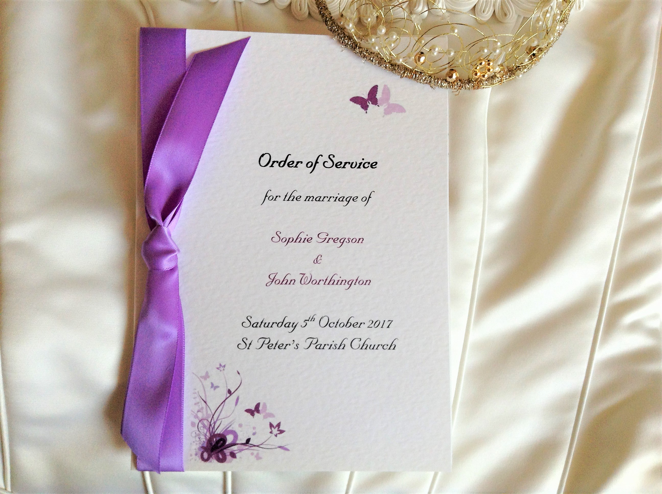 Butterfly Wedding Order of Service Books