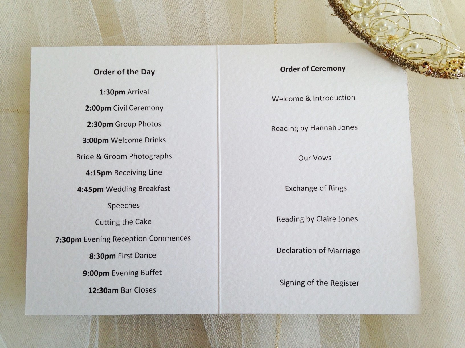 Small art deco wedding order of service books from each for Wedding ceremony order of service template free